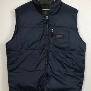 Abercrombie & Fitch Mens Reversible Down Vest Blue